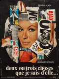 """Movie Posters:Foreign, Two or Three Things I Know About Her (La Société des Films Sirius, 1967). French Grande (45"""" X 61""""). Foreign.. ..."""