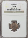 Barber Dimes: , 1892-S 10C AU58 NGC. NGC Census: (12/90). PCGS Population (22/92).Mintage: 990,710. Numismedia Wsl. Price for problem free...
