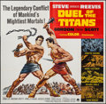 "Movie Posters:Action, Duel of the Titans (Paramount, 1963). Six Sheet (80"" X 79"").Action.. ..."