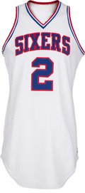 Basketball Collectibles:Uniforms, 1982-85 Moses Malone Game Worn Philadelphia 76ers Jersey, MEARSA10. ...