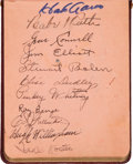 Baseball Collectibles:Others, 1930's Baseball Autograph Book Signed by Babe Ruth, Lazzeri, Foxx,Eddie Collins. ...