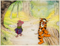 Animation Art:Production Cel, Winnie the Pooh and the Blustery Day Tigger and PigletProduction Cel Setup (Walt Disney, 1968)....