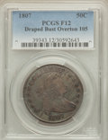 Early Half Dollars, 1807 50C Draped Bust, O-105, R.1, Fine 12 PCGS. PCGS Population(5/18). NGC Census: (2/46). ...