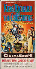 "Movie Posters:Adventure, King Richard and the Crusaders (Warner Brothers, 1954). Three Sheet(41"" X 79""). Adventure.. ..."