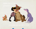 Animation Art:Production Cel, All Dogs Go to Heaven Charlie and Friends Test Title Card(United Artists/Bluth, 1989)....