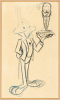 Animation Art:Production Drawing, Knighty Knight Bugs Bugs Bunny and Award Animation Drawing(Warner Brothers, 1959)....