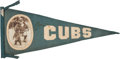 Baseball Collectibles:Others, 1913-1915 Roger Bresnahan Chicago Cubs Large Pennant....