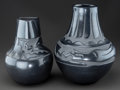 American Indian Art:Pottery, TWO SANTA CLARA CARVED BLACKWARE JARS. Flora Naranjo and PablitaChavarria. c. 1965... (Total: 2 )