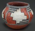 American Indian Art:Pottery, A ZIA POLYCHROME JAR ...