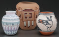American Indian Art:Pottery, THREE SOUTHWEST POLYCHROME JARS. E. Whitegoat, Tomasita Montoya andRobert Tenorio... (Total: 3 )