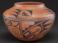 American Indian Art:Pottery, A HOPI BLACK-ON-RED JAR...