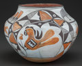 American Indian Art:Pottery, AN ACOMA POLYCHROME JAR. c. 1940. ...