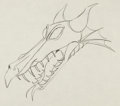 Animation Art:Production Drawing, Sleeping Beauty Maleficent In Dragon Form Production DrawingAnimation Art (Walt Disney, 1959)....