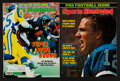 """Football Collectibles:Publications, Jim McMahon and Roger Staubach Signed """"Sports Illustrated"""" Covers (2)...."""
