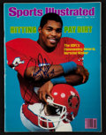 """Football Collectibles:Publications, Herschel Walker Signed """"Sports Illustrated"""" Magazine...."""