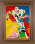 Football Collectibles:Others, 1972 John Riggins Original Painting by LeRoy Neiman....