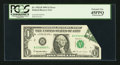 Error Notes:Foldovers, Fr. 1921-B $1 1995 Federal Reserve Note. PCGS Extremely Fine45PPQ.. ...