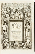 Books:Religion & Theology, [King James Bible]. LIMITED. The Holy Bible, Conteyning the Old Testament, and the New. Newly Translated out of the Orig...