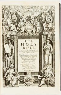 [King James Bible]. LIMITED. The Holy Bible, Conteyning the Old Testament, and the New. Newly Translated out of