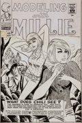 Original Comic Art:Covers, Stan Goldberg and Frank Giacoia Modeling With Millie #49Cover Original Art (Marvel, 1966).... (Total: 2 Items)