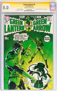 Green Lantern #76 Signature Series (DC, 1970) CGC VF 8.0 Off-white to white pages