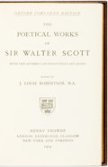 Books:Literature Pre-1900, Sir Walter Scott. J. Logie Robertson, editor. The Poetical Works of Sir Walter Scott. London: Henry Frowde, 1904....
