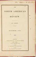 Books:Periodicals, The North American Review, No. LXXXIX, October, 1835.Boston: Charles Bowen, 1835. Pages numbered 453-482....