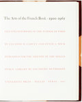 Books:Art & Architecture, Eleanor M Garvey [and:] Peter A. Wick. The Arts of the French Book, 1900-1965: Illustrated Books of the School of Pa...