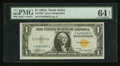Small Size:World War II Emergency Notes, Fr. 2306 $1 1935A North Africa Silver Certificate. F-C Block. PMG Choice Uncirculated 64 EPQ.. ...