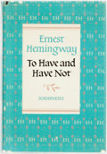 Books:Literature 1900-up, Ernest Hemingway. To Have and Have Not. New York: CharlesScribner's Sons, 1937....