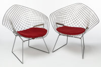 HARRY BERTOIA (Italian/American, 1915-1978) Diamond Chair (pair of chairs), designed 1952, Knoll Corp.<