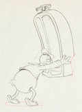 Animation Art:Production Drawing, Mickey's Service Station Donald Duck Production DrawingAnimation Art (Walt Disney, 1935). ...