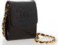 Luxury Accessories:Bags, Chanel Black Lambskin Leather Phone Case with Gold Hardware. ...