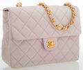 Luxury Accessories:Bags, Chanel Lilac Quilted Lambskin Leather Small Flap Bag with GoldHardware . ...