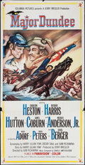 """Movie Posters:Western, Major Dundee (Columbia, 1965). Three Sheet (41"""" X 78""""). Western.. ..."""