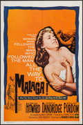 "Movie Posters:Crime, Malaga (Warner Brothers, 1962). One Sheet (27"" X 41""). Crime.. ..."