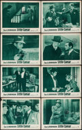 """Movie Posters:Crime, Little Caesar (Warner Brothers, R-1954). Lobby Card Set of 8 (11"""" X14""""). Crime.. ... (Total: 8 Items)"""