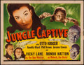 "Movie Posters:Horror, Jungle Captive (Universal, 1945). Half Sheet (22"" X 28""). Horror.. ..."