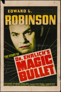 """Movie Posters:Drama, Dr. Ehrlich's Magic Bullet (Warner Brothers, 1940). One Sheet (27"""" X 41""""). Drama.. ..."""