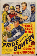 """Movie Posters:Comedy, Pride of the Bowery (Monogram, 1940). One Sheet (27"""" X 41"""").Comedy.. ..."""