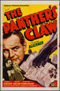 """Movie Posters:Mystery, The Panther's Claw (PRC, 1942). One Sheet (27"""" X 41""""). Mystery.. ..."""