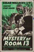 "Movie Posters:Mystery, Mystery of Room 13 (Film Alliance, 1938). One Sheet (27"" X 41"").Mystery.. ..."