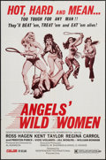 """Movie Posters:Exploitation, Angels' Wild Women (Independent-International, 1972). One Sheet(27"""" X 41"""") & Photos (3) (8"""" X 10""""). Exploitation.. ... (Total:4 Items)"""