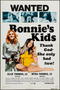 """Bonnie's Kids & Other Lot (General Film, 1973). One Sheets (2) (27"""" X 41"""") & Photos (6) (8"""" X 10&..."""