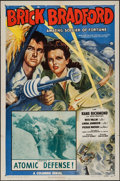 "Movie Posters:Serial, Brick Bradford Amazing Soldier of Fortune (Columbia, 1947). One Sheet (27"" X 41"") Chapter 1 -- ""Atomic Defense!"" Serial.. ..."