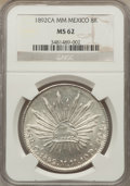 Mexico, Mexico: Republic 8 Reales 1892 Ca-MM MS62 NGC,...