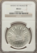 Mexico, Mexico: Republic 8 Reales 1893 Do-ND MS61 NGC,...