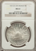 Mexico, Mexico: Republic 8 Reales 1831 Zs-OM MS61 NGC,...