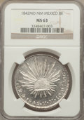 Mexico, Mexico: Republic 8 Reales 1842 Mo-MM MS63 NGC,...