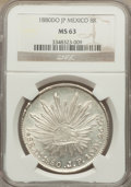 Mexico, Mexico: Republic 8 Reales 1880 Do-JP MS63 NGC,...